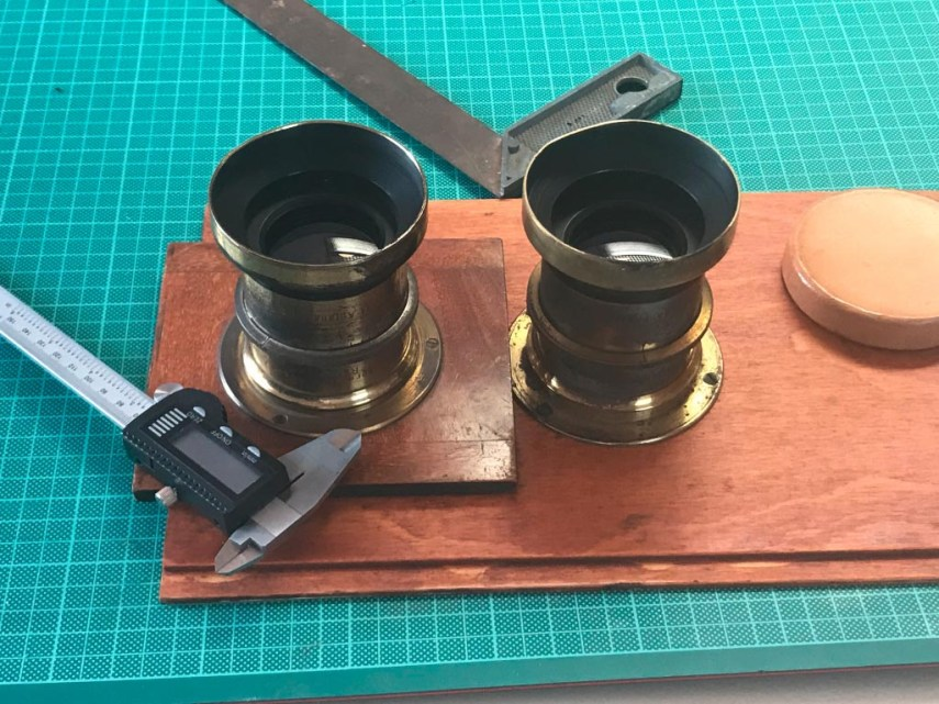 Stereo lenses for my stereo collodion wetplate project.