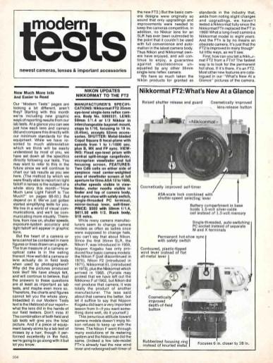 Nikkormat FT2 article
