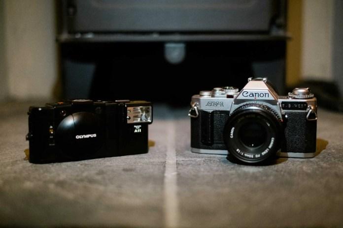 Canon AV-1 + Olympus XA