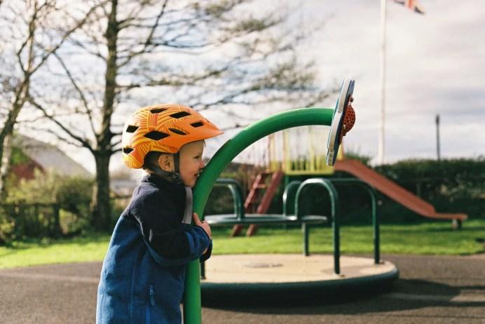 Playground Chat - Ravenglass Lake District - Canon AV-1, Agfa Vista Plus 200