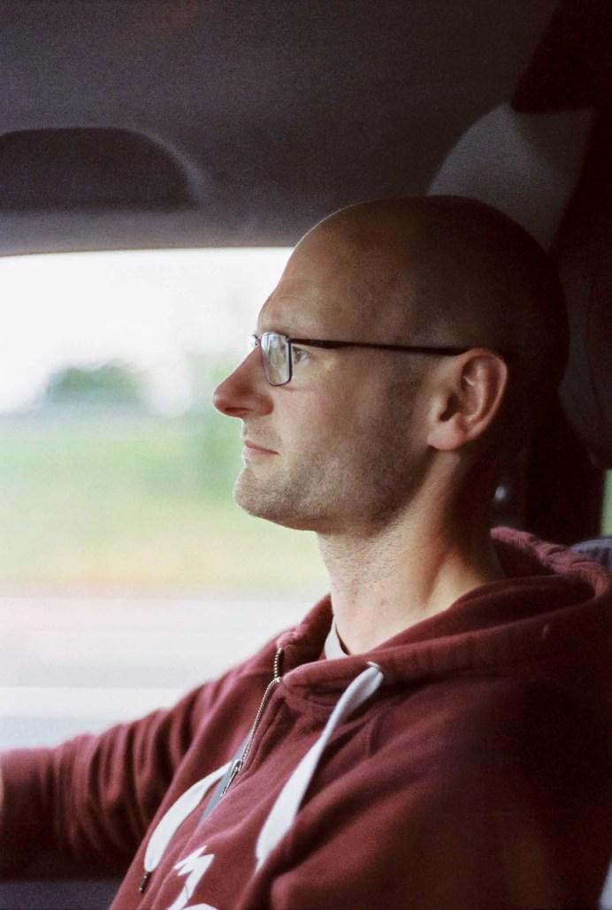 Road to Wales - Nikon F100, Cinestill 800T