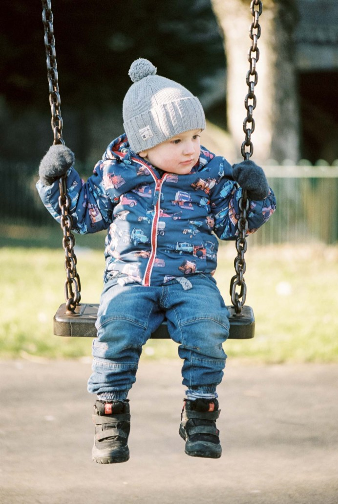 Swing - The 'Pirate Park' Peebles - Nikon F100, Kodak Portra 400