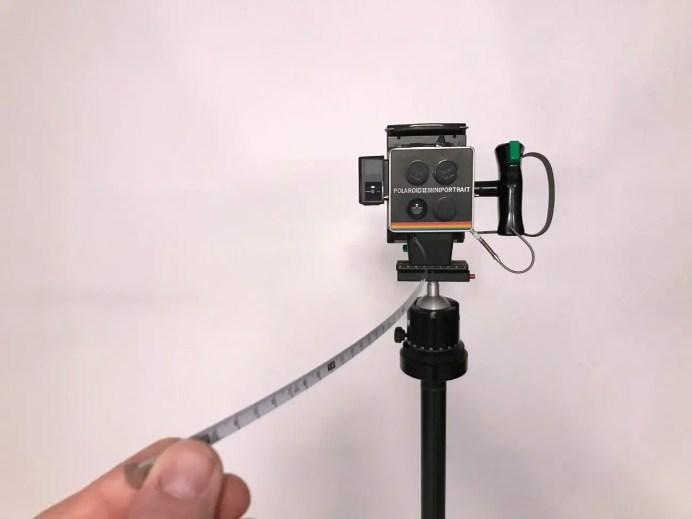 Polaroid Miniportrait - integrated tape measure!