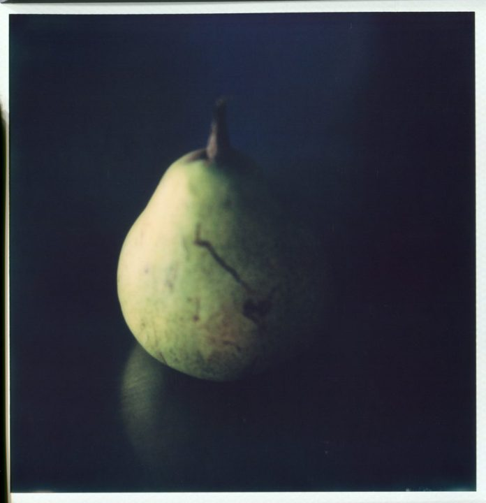 """Conversation with Cezanne"" 2018. Untouched scan of Impossible SX70"