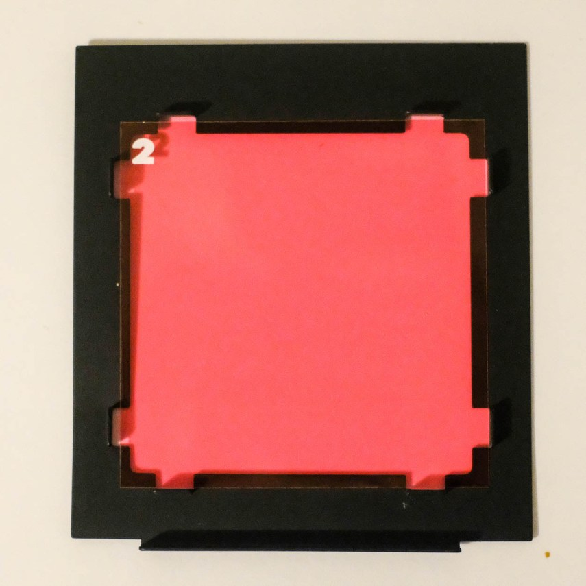 Budget darkroom - Contrast filter holder