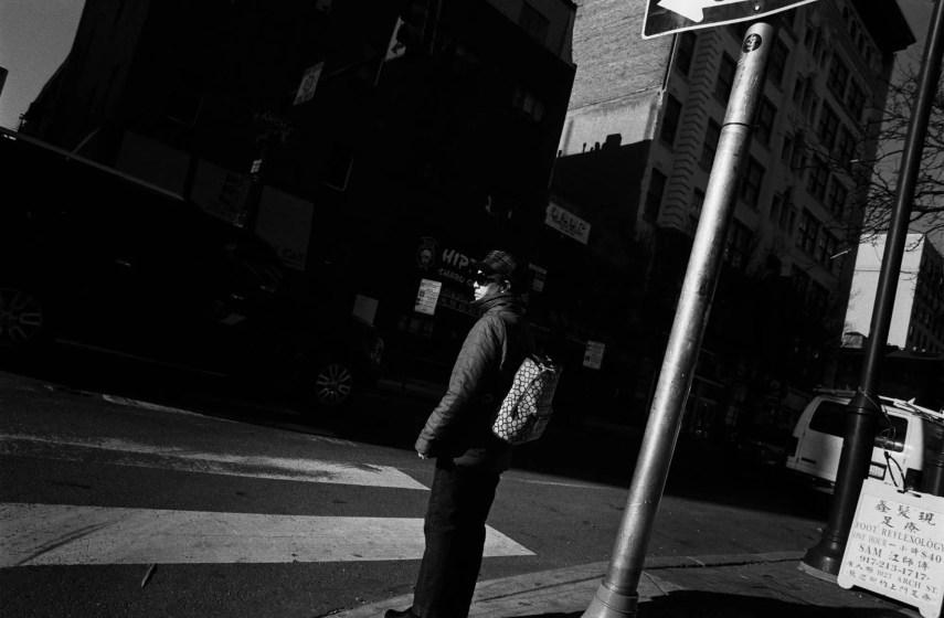 Arch Street, Nikon F2AS, 24mm f/2.8 Nikkor N, Eastman Double-X