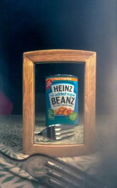 Heinz Baked Beans Selfie - Fuji Pro 400H