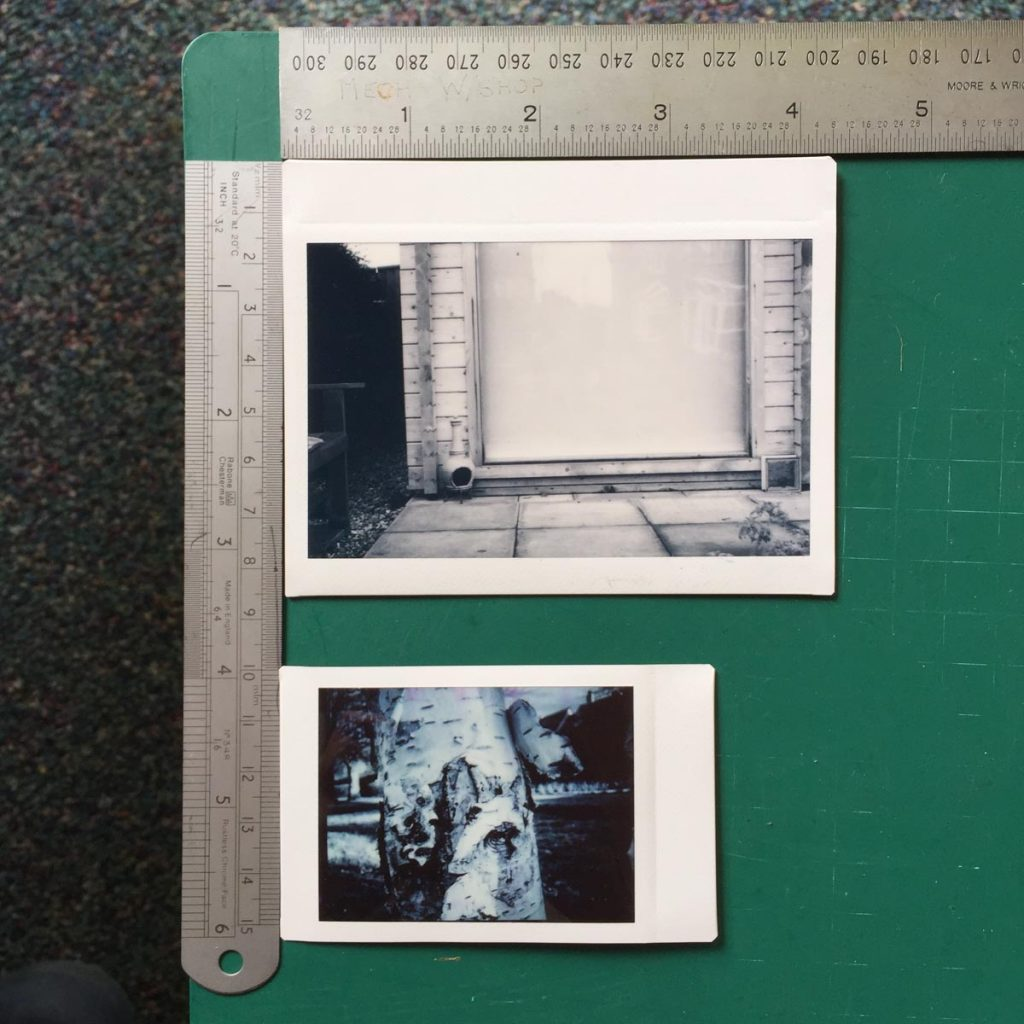 Instax Wide and Mini to scale