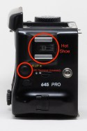 Mamiya 645 Pro hot shoe and PC flash terminal