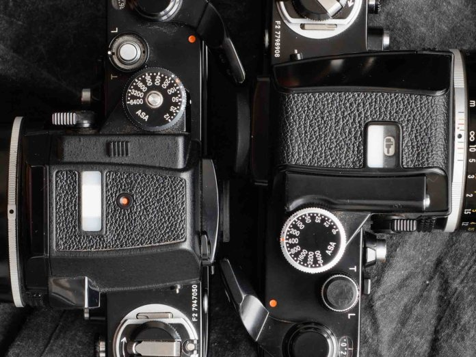 Nikon F2 finder heads top-down