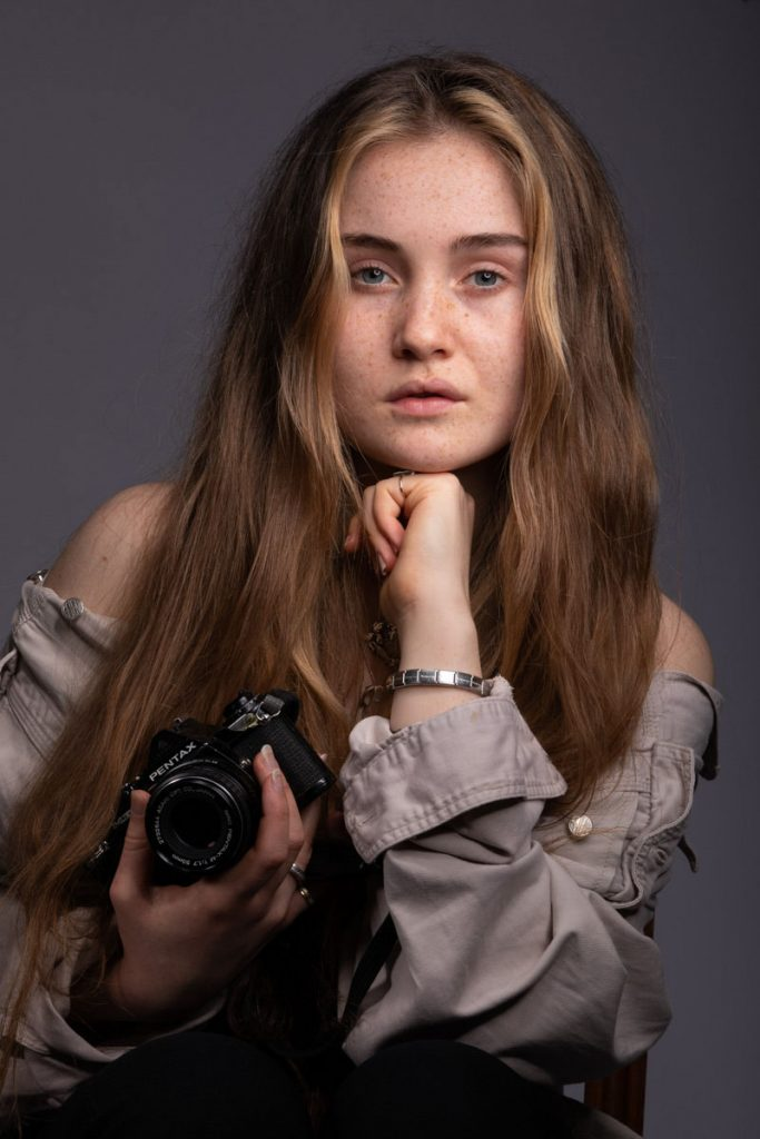 Clarissa with Pentax ME
