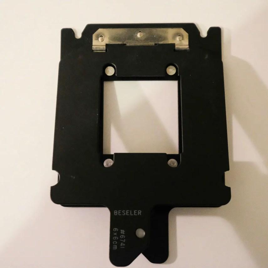 Budget darkroom - 6x6 Negative Carrier