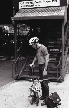 Following in Vivian Maier's footsteps - Fold up bike