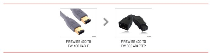 From FireWire 400 to FireWire 800 in two steps.