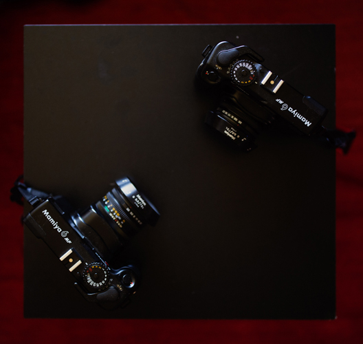 Mamiya 6 MF - Lens retracted and extended
