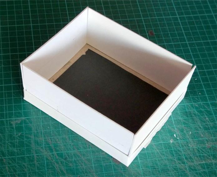 4x5 Pinhole build - Box sides in situ