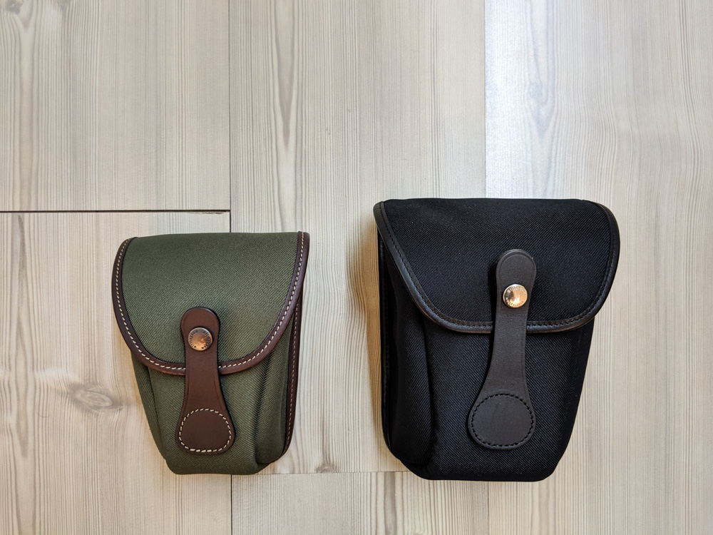 Billingham AVEA 7 and 8 end pockets side comparison (closed)