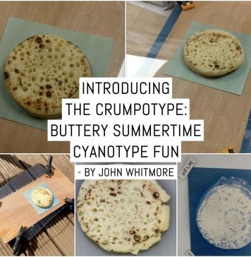 Introducing the Crumpotype - buttery Summertime cyanotype fun