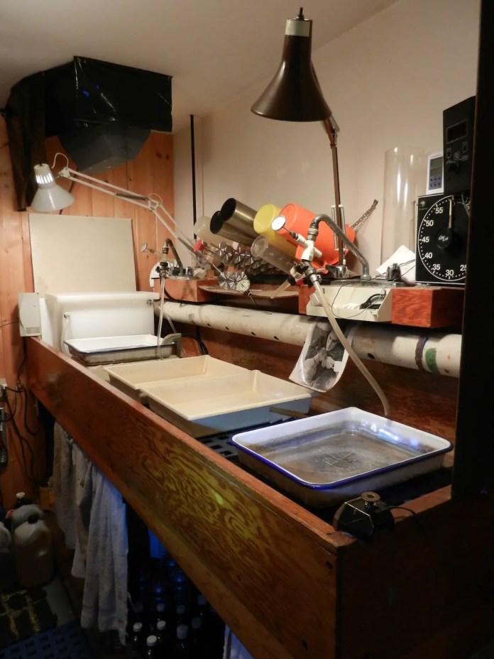 Darkroom trays/sink