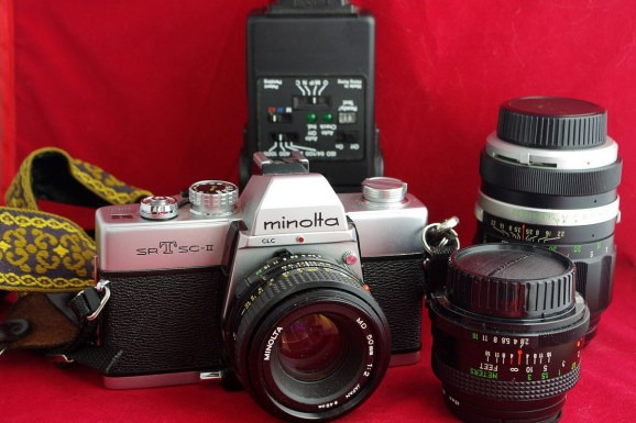 Kevin is shooting a Minolta SRT-SC2 and Ultrafine Extreme 400