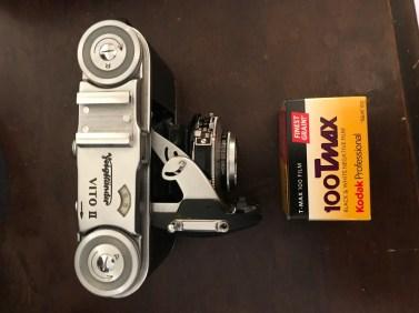 Sam is shooting a Voightlander Vito II and Kodak T-MAX 100