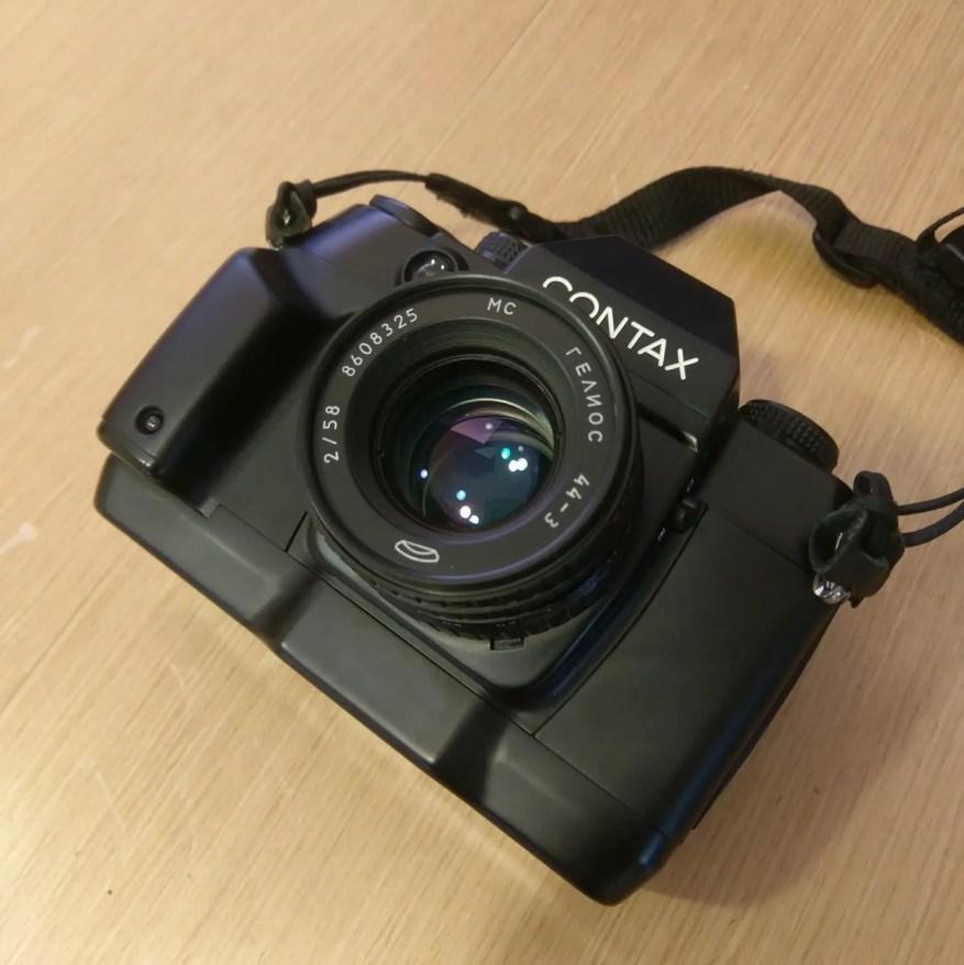CONTAX AX with KMZ Helios 44-3 58mm f/2