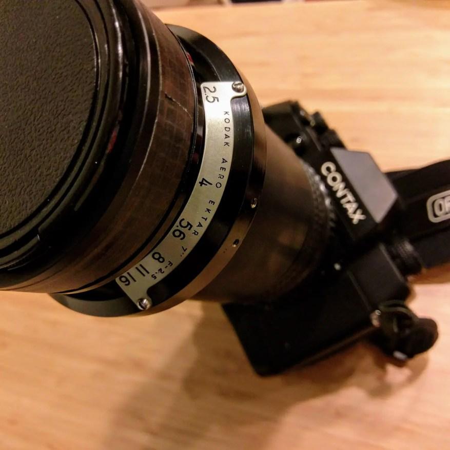 CONTAX AX with Kodak Aero Ektar 7 (178mm) f/2.5