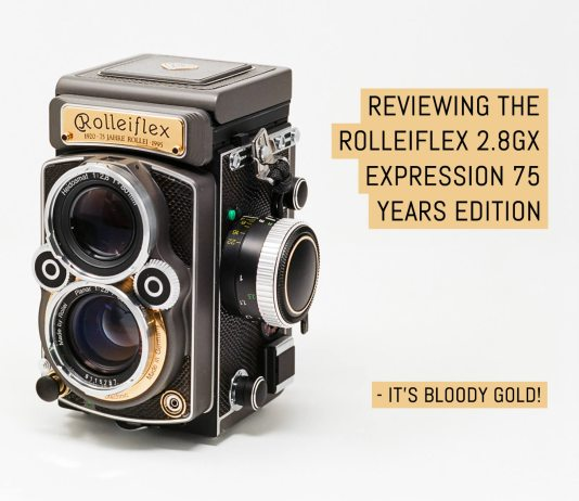 Reviewing the Rolleiflex 2.8GX Expression 75 years edition - it's bloody gold!