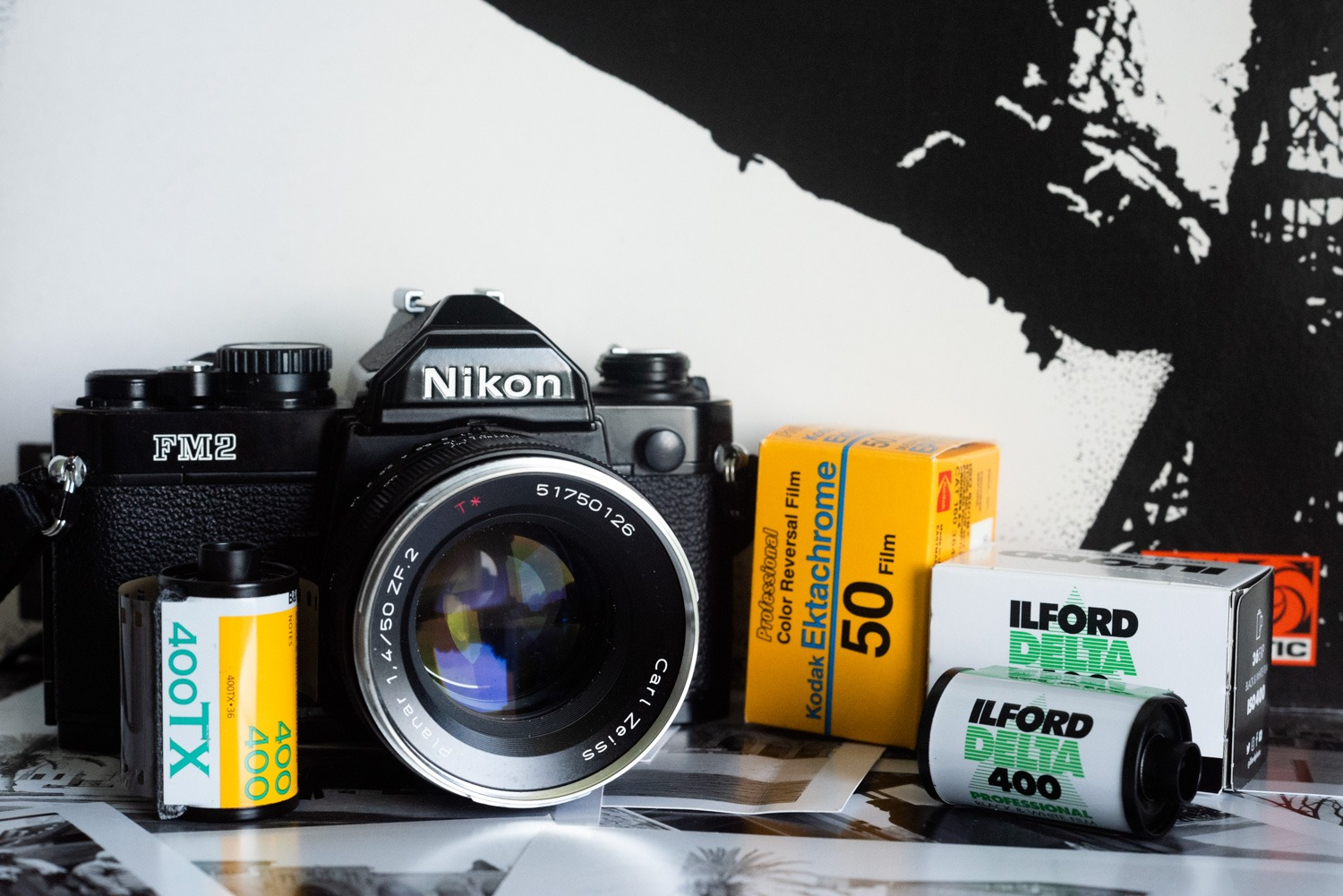 Nikon FM2, Zeiss Planar 50mm f/1.4 and film