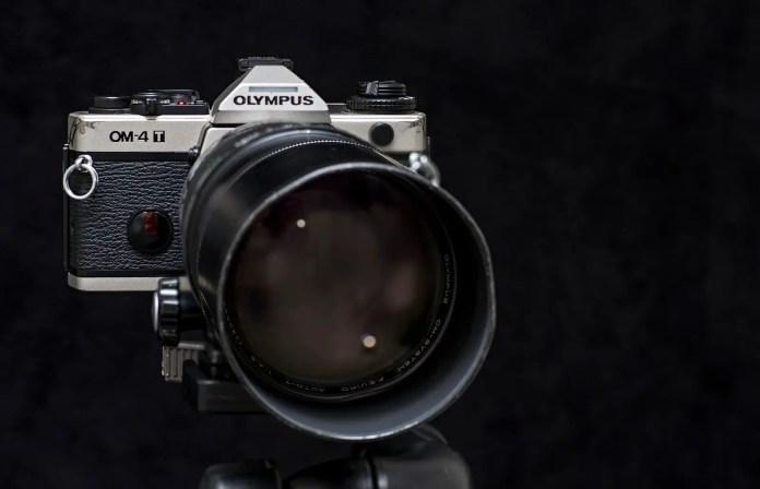 Olympus OM-4T and Olympus Zuiko 300mm f/4.5