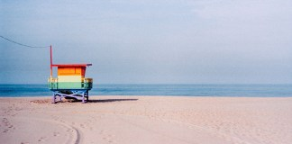Rainbow Lifeguard Tower, Venice, California. Leica M3, Kodak Portra 160