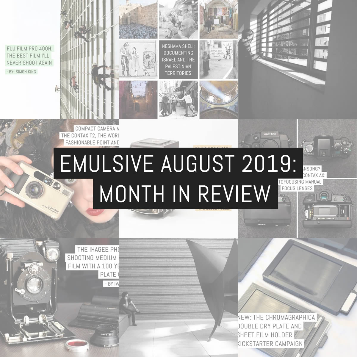 EMULSIVE August 2019: month in review