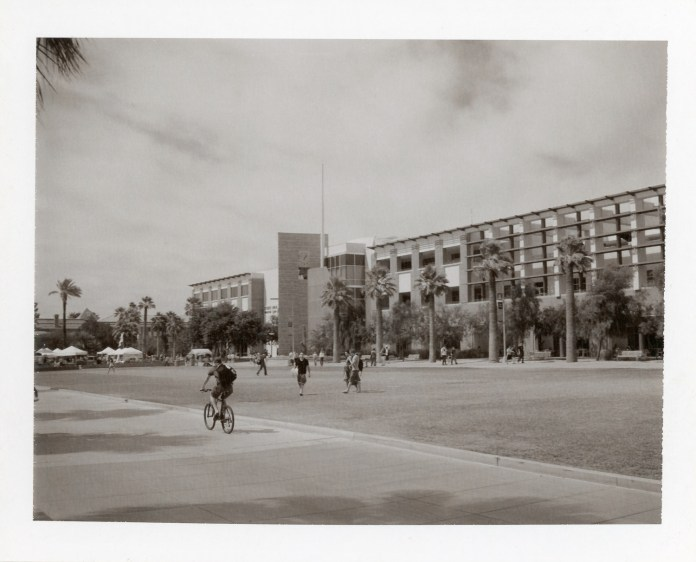 View of the University of Arizona Mall, Polaroid Type 667