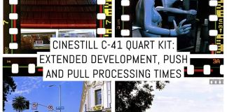 Cinestill C-41 Quart Kit: extended development, push and pull processing times