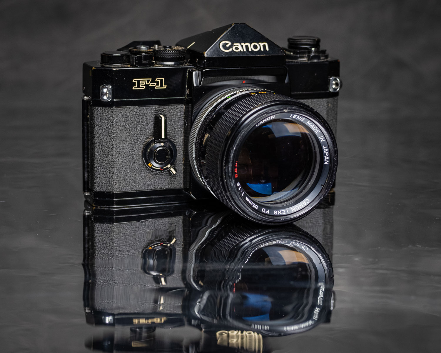 The first pro level SLR I bought new In 1976 - Canon F-1