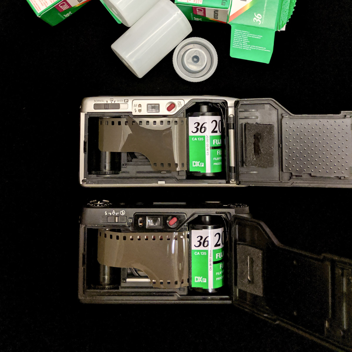 Ricoh GR1s and R1s - film ready to load