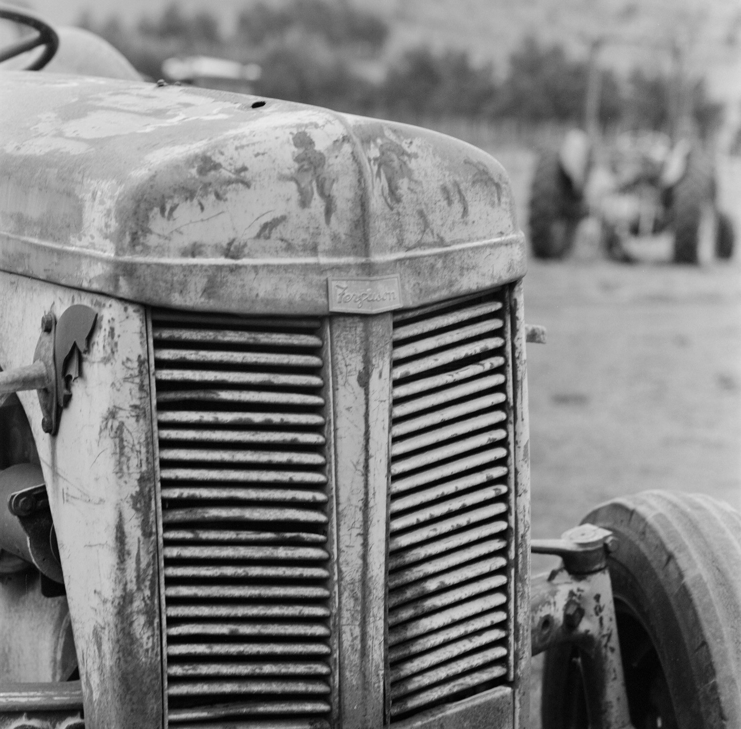 Old tractor  Film: Ilford Delta 100 Lens: 65mm f/3.5 Exposure:  not recorded  Near Kyneton, Vic, Australia