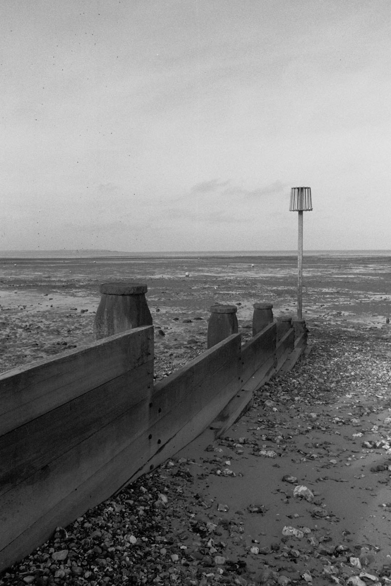 Breakwater at Seasalter. Metered at EI 50 and push processed as if EI 200. Probably a touch over exposed on the needle too