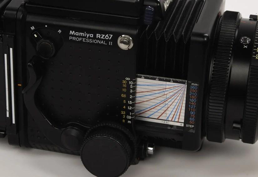 Mamiya RZ67 - the distance scale