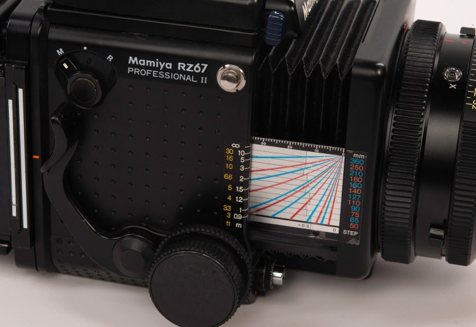 Mamiya RZ67 - the distance scale