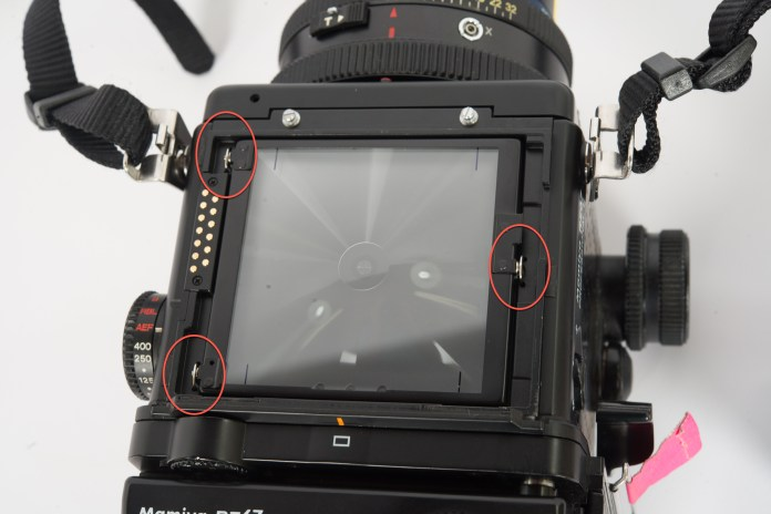 Mamiya RZ67 - focus screen mount