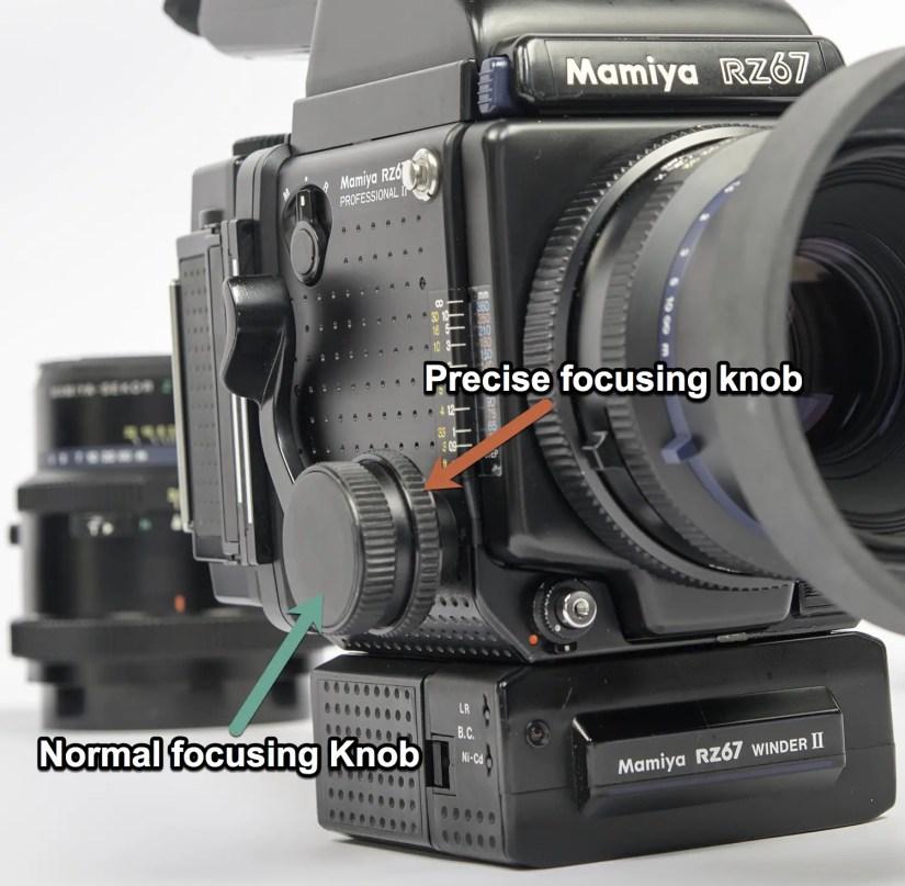 Mamiya RZ67 - focusing