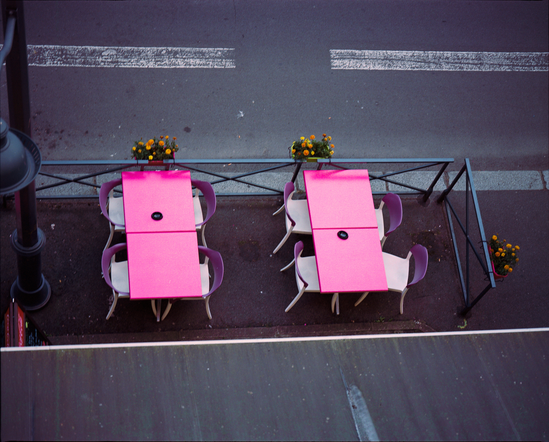 Rennes (Ille et Vilaine, Bretagne), terrace & street from my hotel room