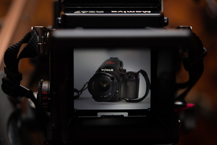 Mamiya RZ67 - through the standard waist level finder