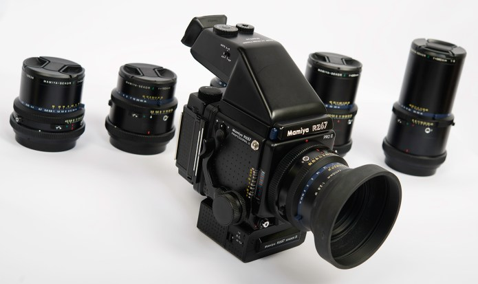 Mamiya RZ67 - with AE Prism finder FE701 installed