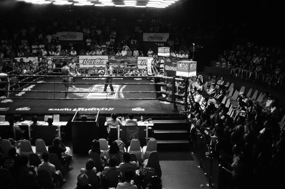 Rajadamnern - Muaythai boxing. Olympus XA