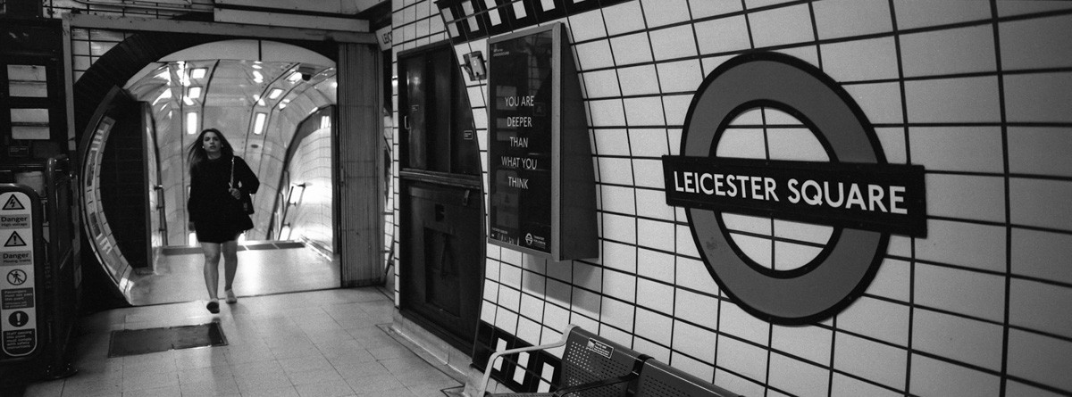 Leicester Square - Hasselblad XPan, ILFORD HP5 PLUS (EI 3200) - London, UK