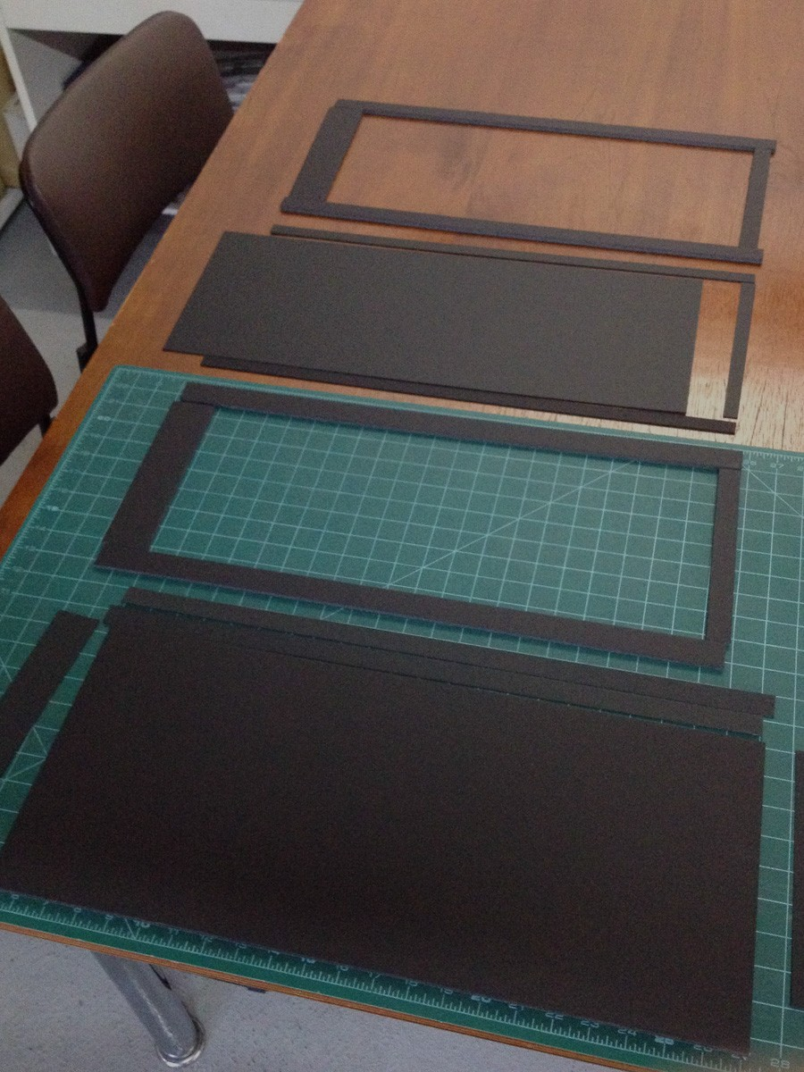 "All layers for one side of a 8x20"" film holder."