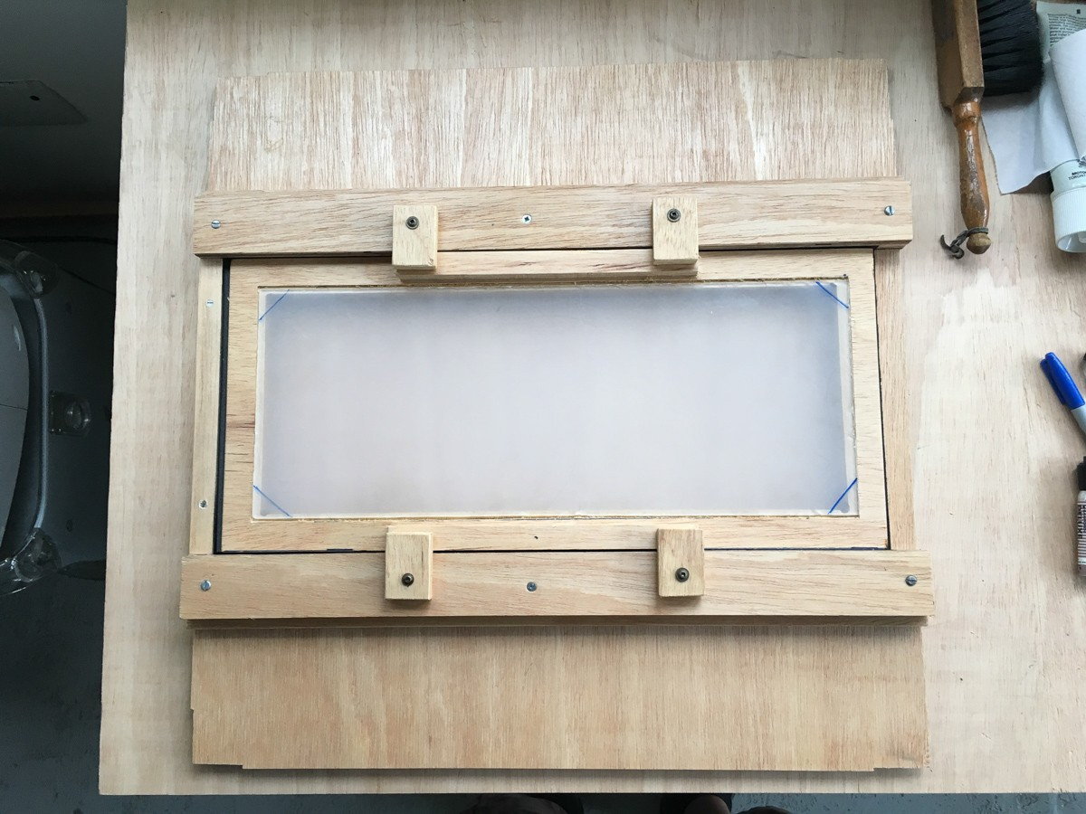 "8x20"" back focusing screen assembly test."
