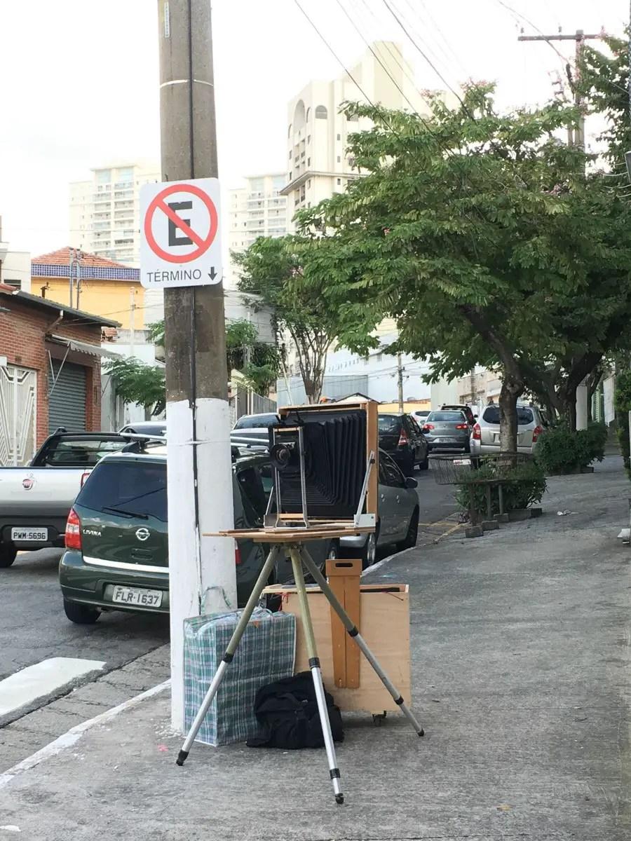 Camera setup to photograph Ipiranga in São Paulo.